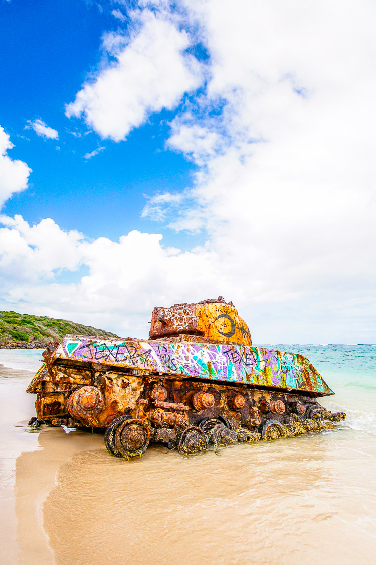 Flamenco Beach tanks Culebra Puerto Rico